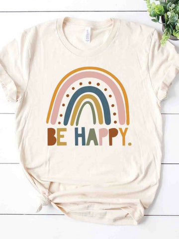 Be Happy Organic Rainbow Tee