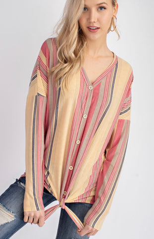 Lighthearted Love Striped Top