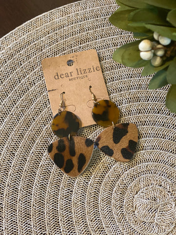 Safari Animal Print Earring