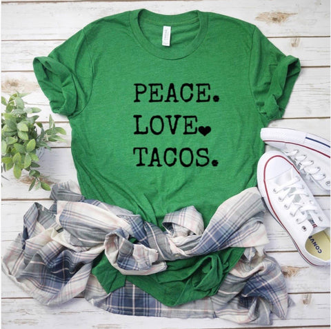 Peace Love Tacos Graphic Tee