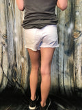 Bailey White Distressed Denim Shorts