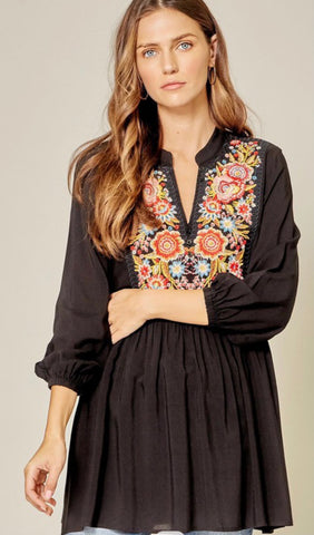 Love Stories Unfold Embroidered Top