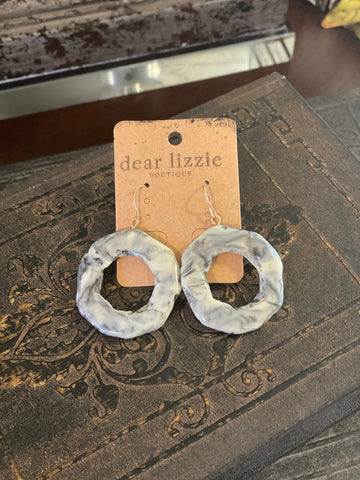Marble Circular Earrings