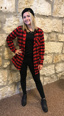 At Every Corner Buffalo Plaid Button Down Shirt