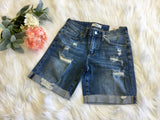 Amber Destroyed Cuff Denim Short