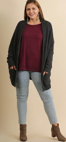 First to Fall in Love Curvy Cardigan Sweater