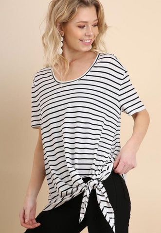 Forget Me Knot Striped Tee