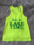 Livin' on Lake Time Graphic Tank
