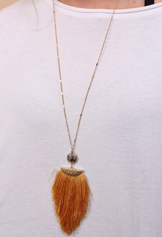 Parker Long Tassel Necklace