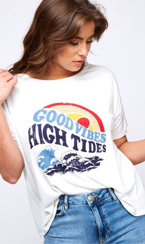 Good Vibes High Tides Graphic Tee
