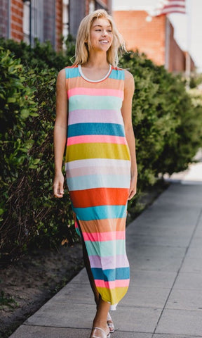 At The End of The Rainbow Striped Dress