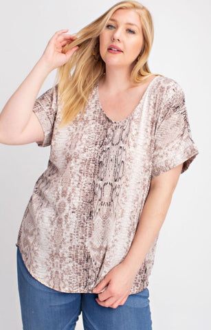 Life is a Safari Curvy Top