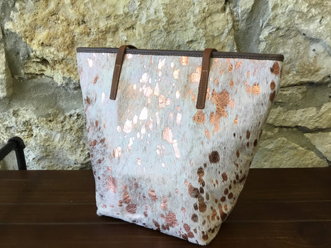 Rose' Gold Leather Tote