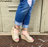 Leif Taupe Wedge Espadrille