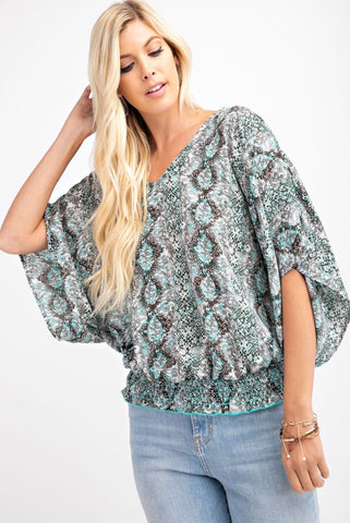Wild For You Snakeskin Top