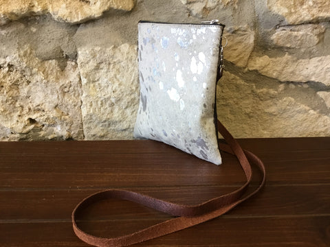 Silver Fox Leather Crossbody