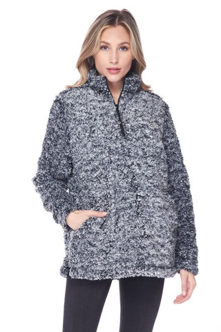 Magical Time of Year Curvy Sherpa Pullover