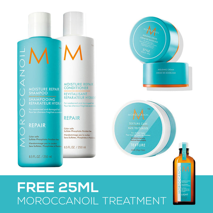 MoroccanOil - Shampoo + Conditioner Bundle 1