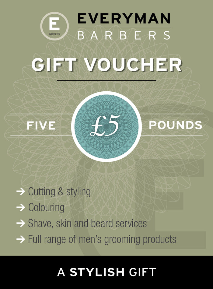 Everyman Barbers £5 Gift Voucher