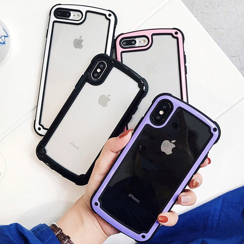 fashion color plain transparent silicon cover for iphone 7 clearfashion color plain transparent silicon cover for iphone 7 clear plastic pc back case rose pink for iphone 6 6s