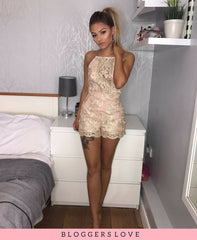 Nude/Gold Playsuit