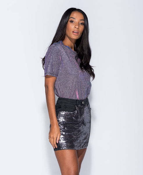 Charcoal/Pewter Skirt