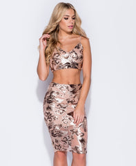 Rose/Gold Co Ord Set