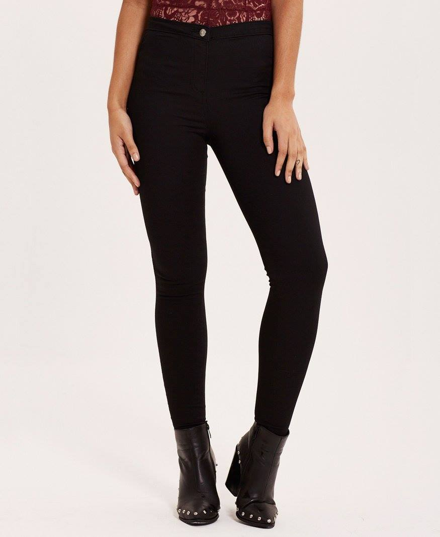 Jet Black Skinny Jeggings