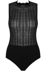 Black Netted Bodysuit