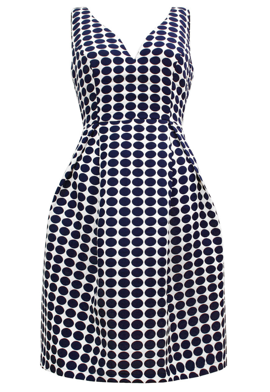 Geneva Dress Navy