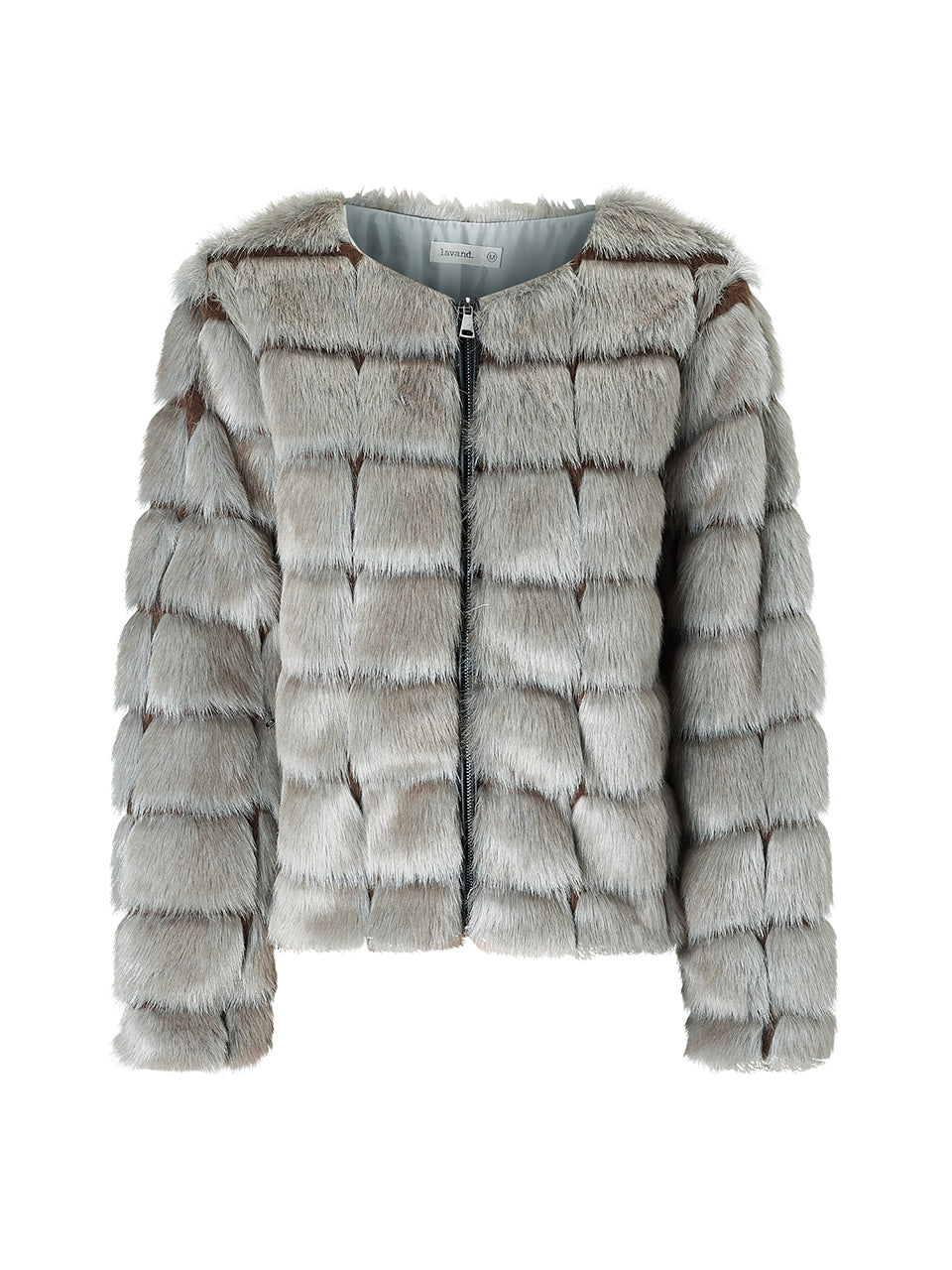 Lavand Grey Faux Fur Jacket