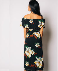 Bardot Floral Midi Dress