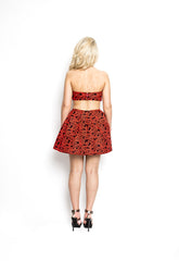 Bandeau Jacquard Dress