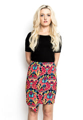 Zip Asymmetrical Skirt