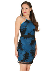 Leaf Net Bodycon Dress