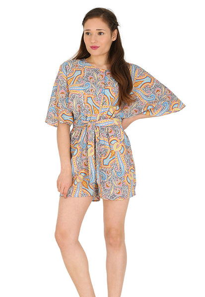Paisley Batwing Playsuit