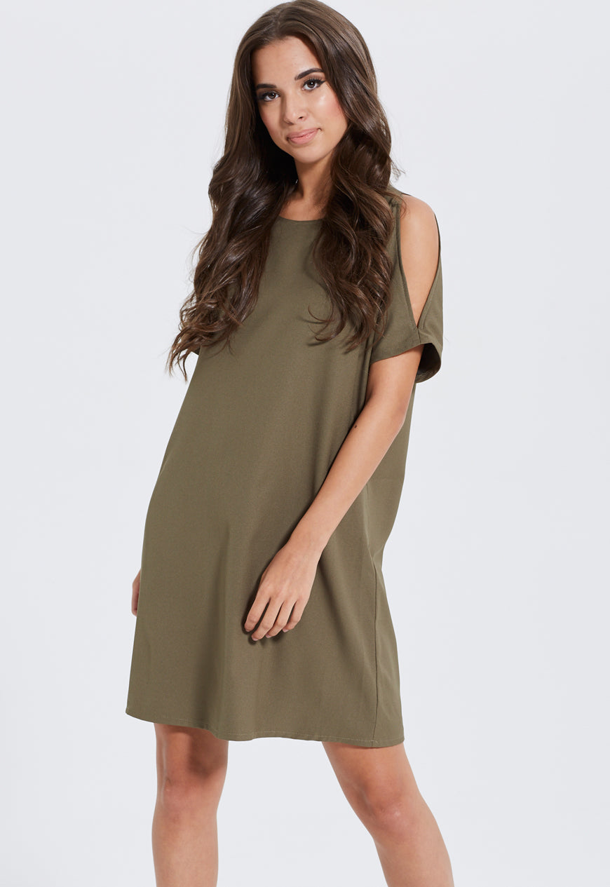 Shoulder Split Dress