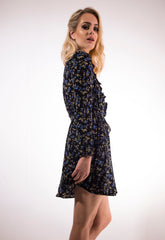 Ditsy Floral Wrap Dress