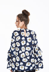 Floral Tiered Sleeve Top