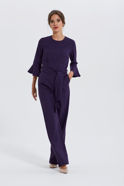 Purple Tailored Jumpsuit