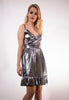 Metallic Frilled Dress