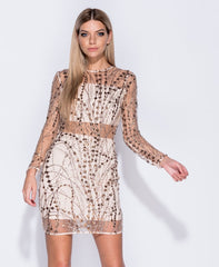Nude Sequin Dress