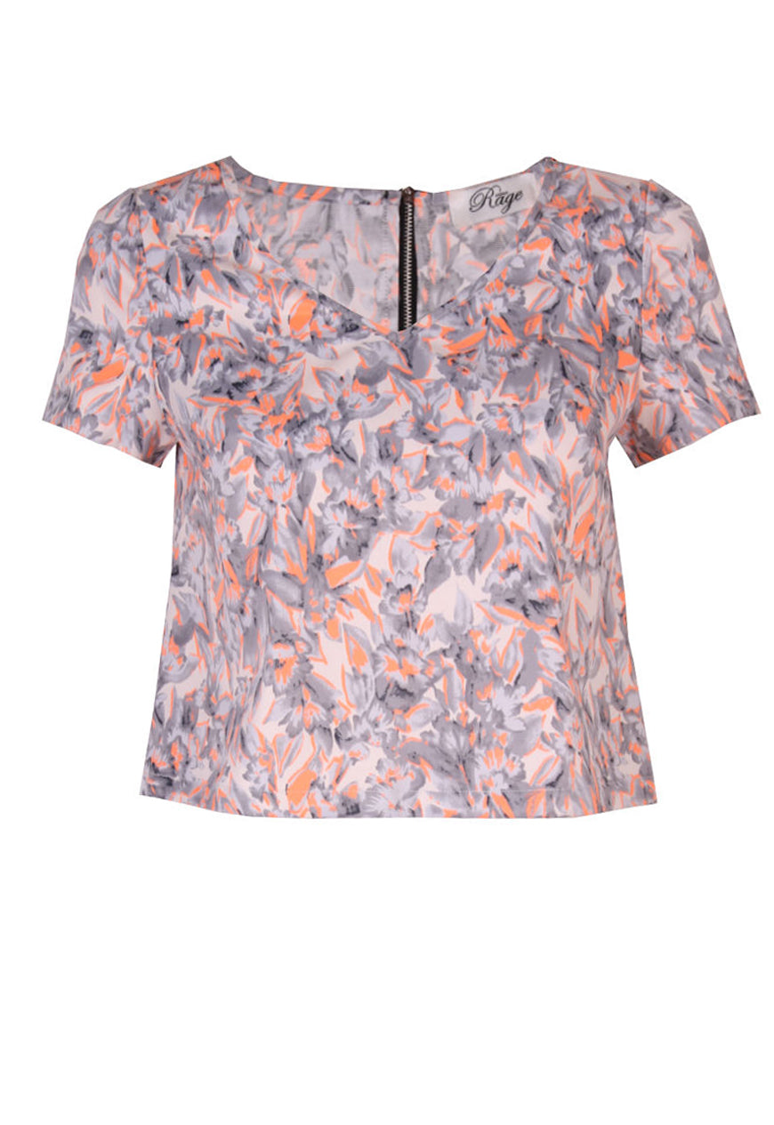 Madam Rage Neon Flash Boxy Top
