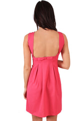 Pink Low Back Dress