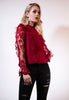 Wine Lace Blouse