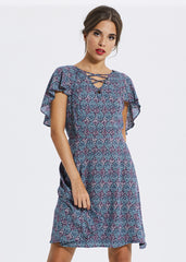 Ditsy Floral Tie-front Dress