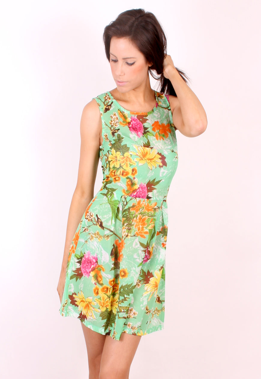 Madam Rage Tropical Floral Summer Dress
