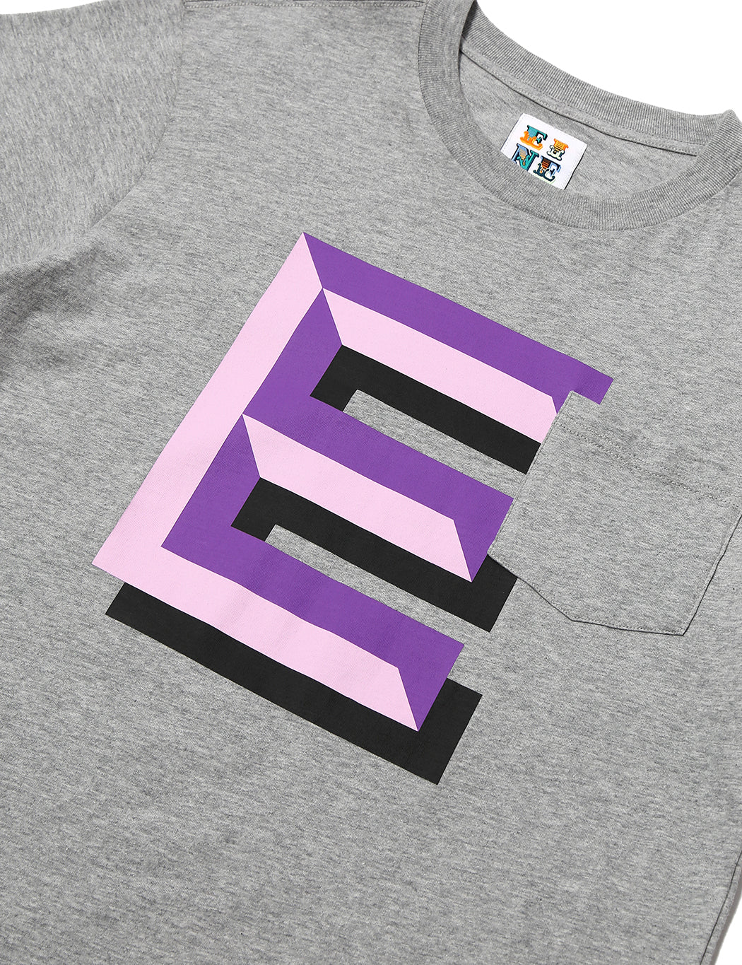 Gaspipe E Pocket S/S T-Shirt - Heather Grey - Eine London by Ben Eine