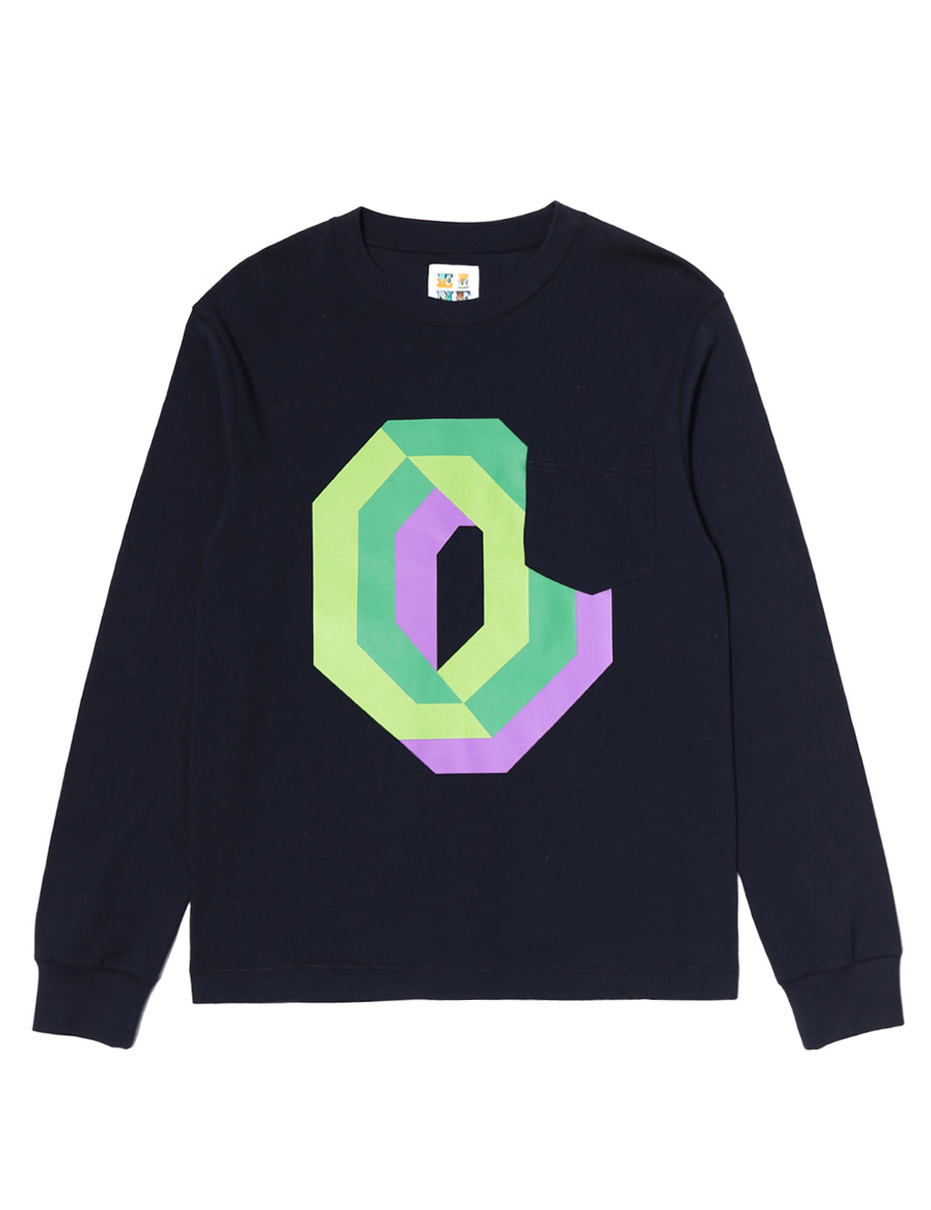 Gaspipe O Pocket L/S T-Shirt - Navy - Eine London by Ben Eine
