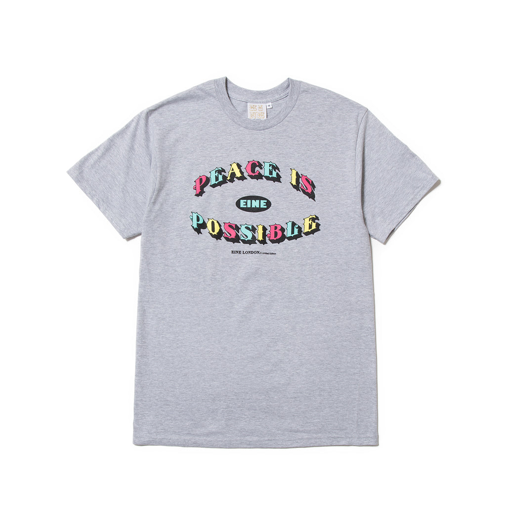 Peace Is Possible S/S T-Shirt - Grey Marl